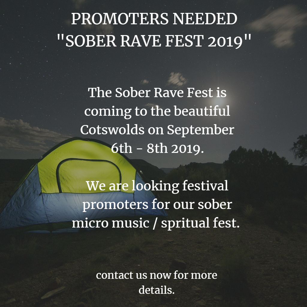 Sober Rave Fest Influencers / Promoters Wanted